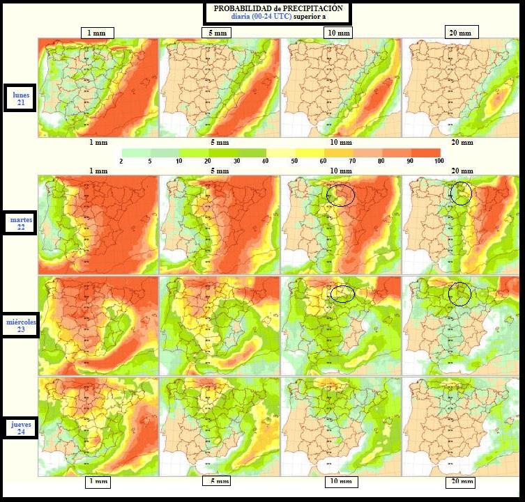 Probabilidad de precipitación. AEMET