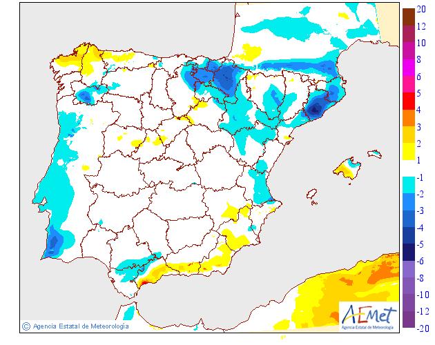 Variación de temperaturas máximas AEMET. 05 Meteosojuela