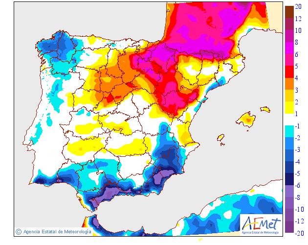 Variación de temperaturas máximas AEMET. Meteosojuela 08