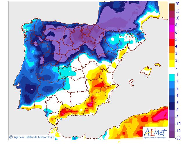 Variación de temperaturas máximas AEMET. Meteosojuela 09
