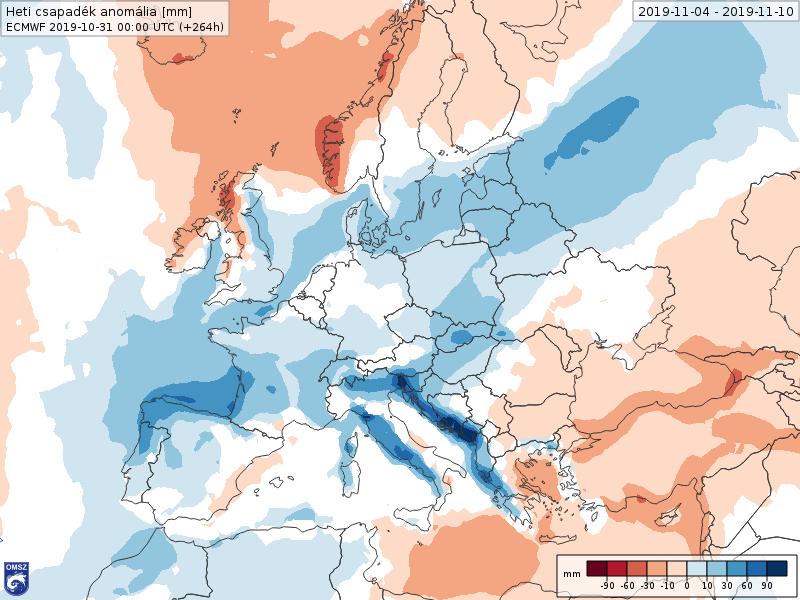 Anomalías Precipitación NOVIEMBRE 1 semana ECMWF