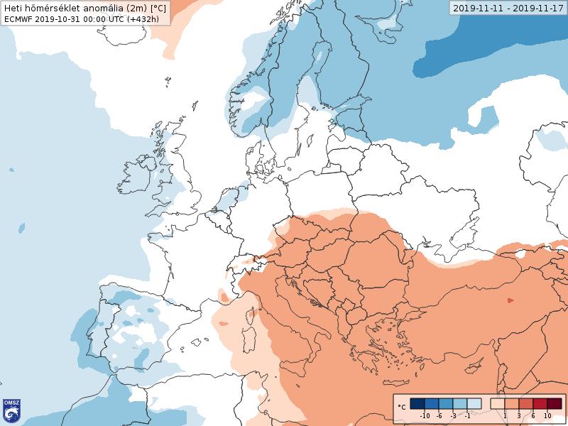 Anomalías Temperaturas Noviembre 2 semana ECMWF