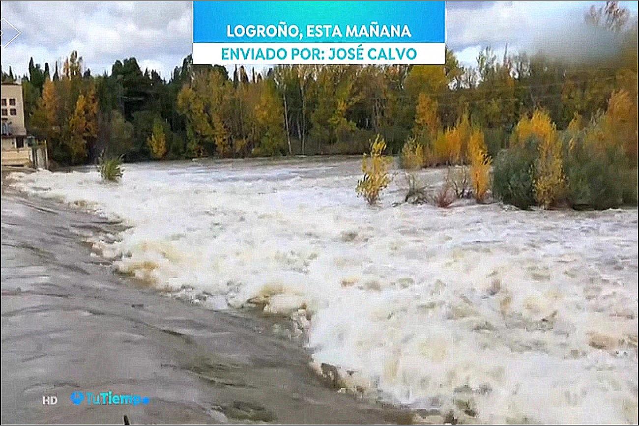 Crecida Ebro. Tu Tiempo A3. 1511