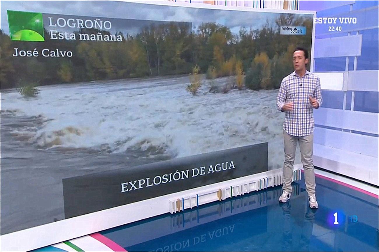 Crecida del Ebro. Aqui la Tierra 1411