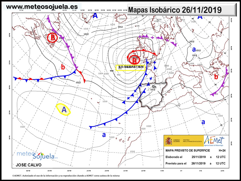 Mapa Isobárico La Rioja. Meteosojuela
