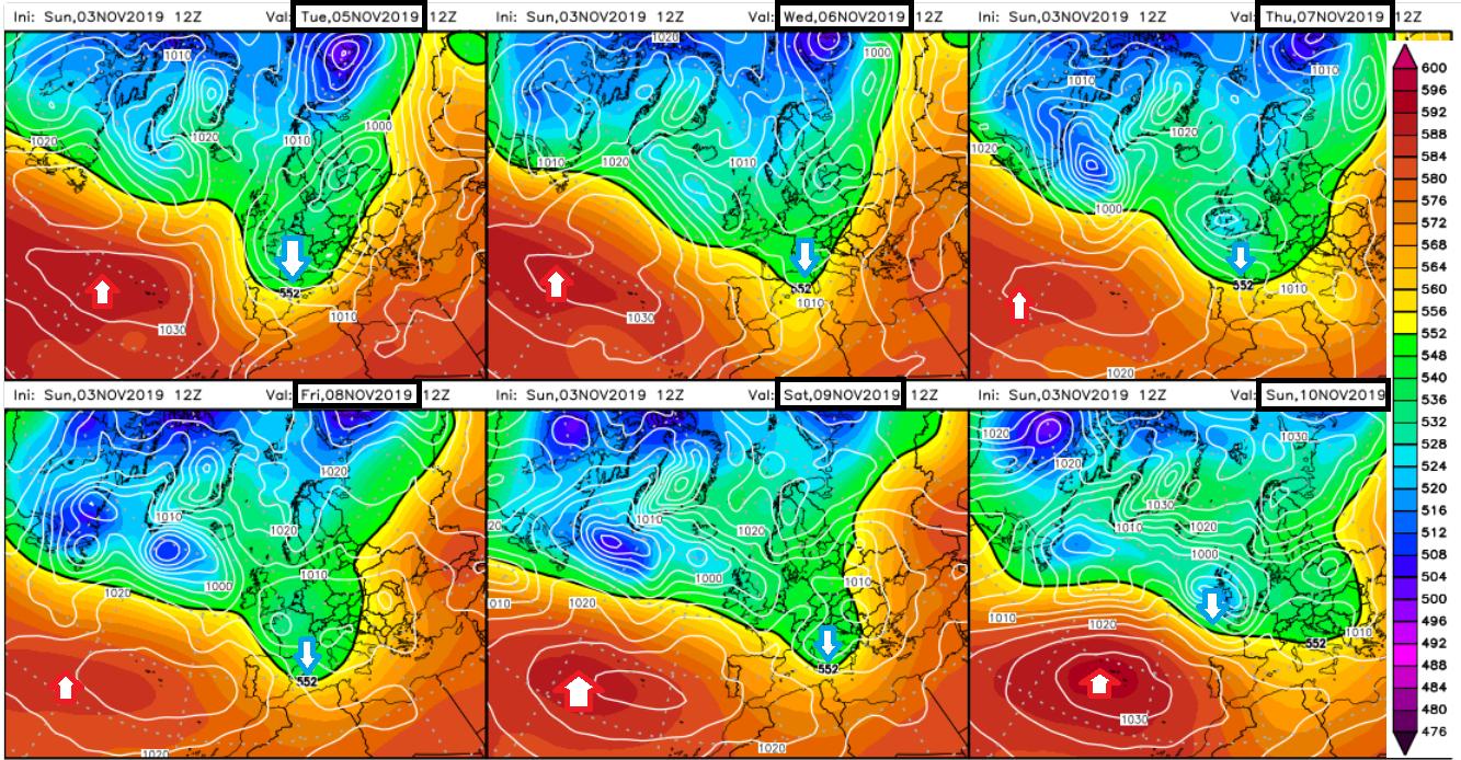 Animación de anomalías de temperaturas 850hPa .Meteosojuela La Rioja