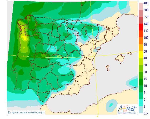 Precipitación Media según AEMET. 26 Meteosojuela La Rioja