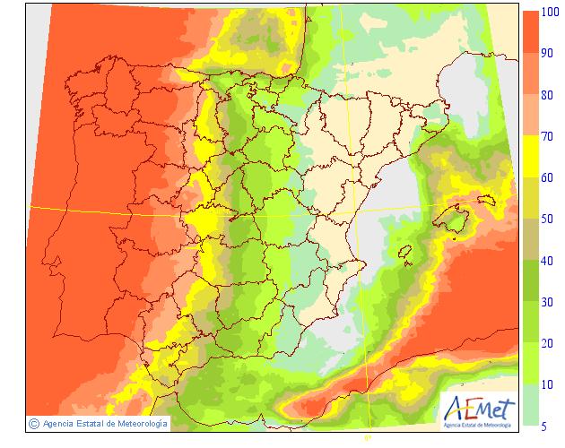 Probabilidad de precipitación. AEMET. 19 Meteosojuela La Rioja