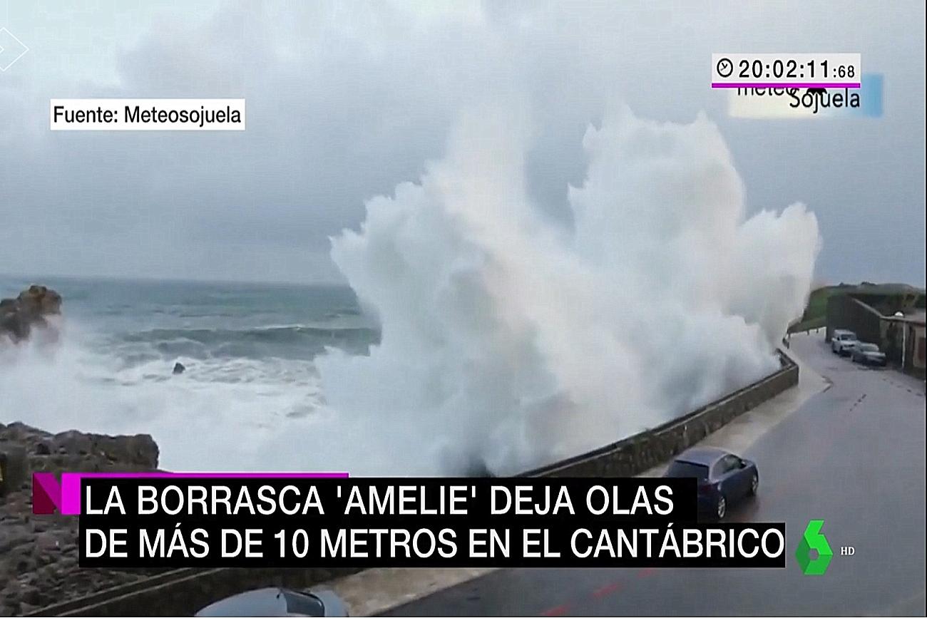 Temporal Castro. Noticias la Sexta. 0311 Mteosojuela