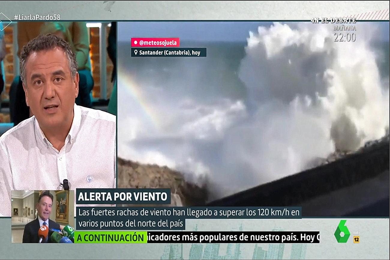 Temporal olas. Liarla Pardo La Sexta. 0311 Meteosojuela
