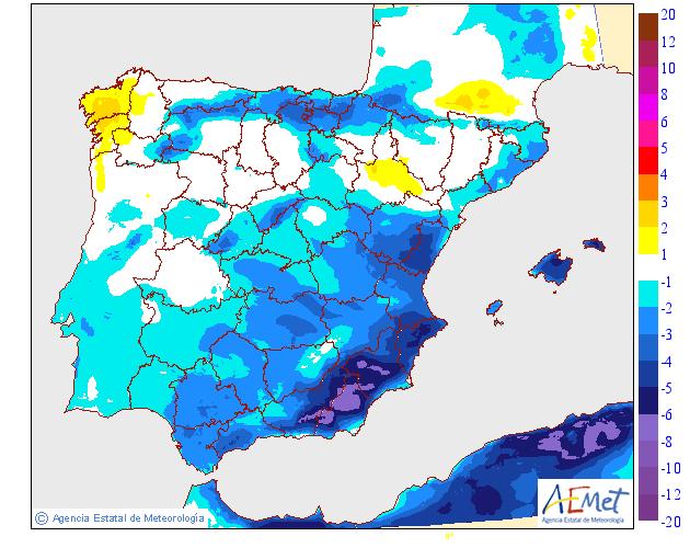 Variación de temperaturas máximas AEMET. 08 Meteosojuela