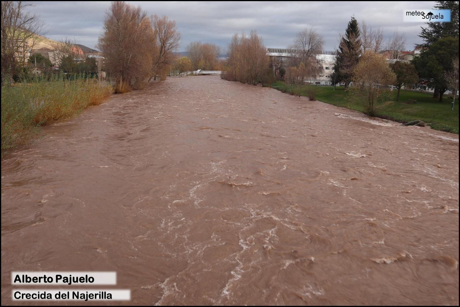 Alberto. Crecida del río Najerilla