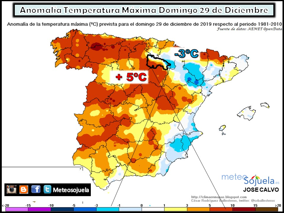 Anomalía Temperatura Máxima.
