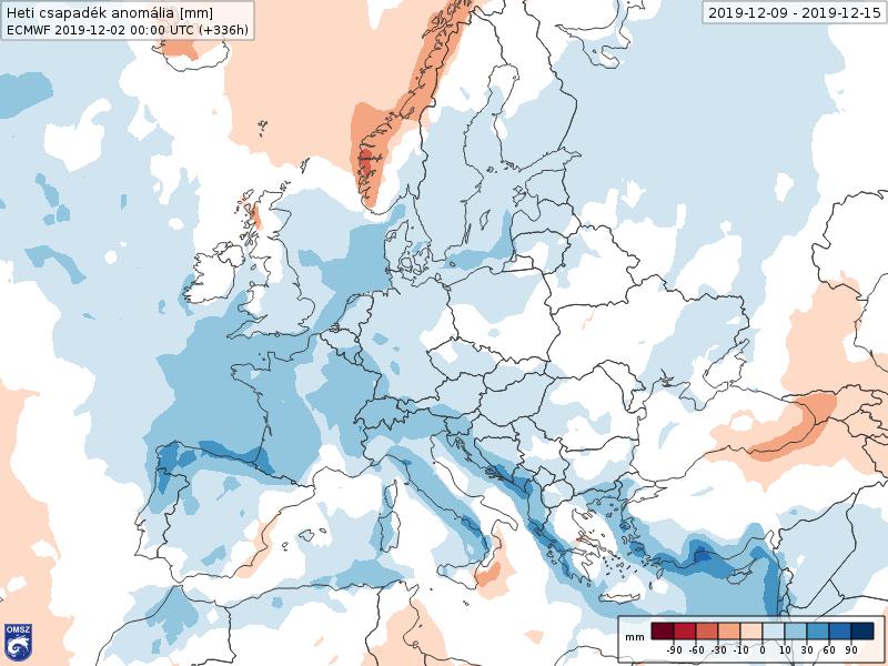 Anomalías Precipitación Diciembre 2 semana ECMWF