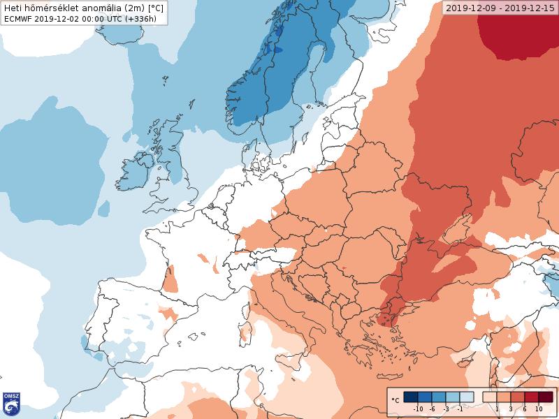 Anomalías Temperaturas Diciembre 2 semana ECMWF