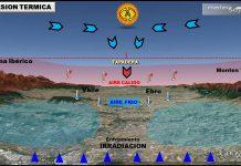 Inversión térmica en el valle del Ebro. Meteosojuela
