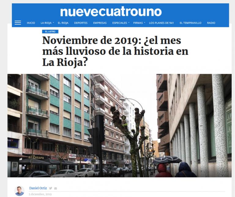 Colaboración con el diario digital nuevecuatrouno.com 02/12/2019