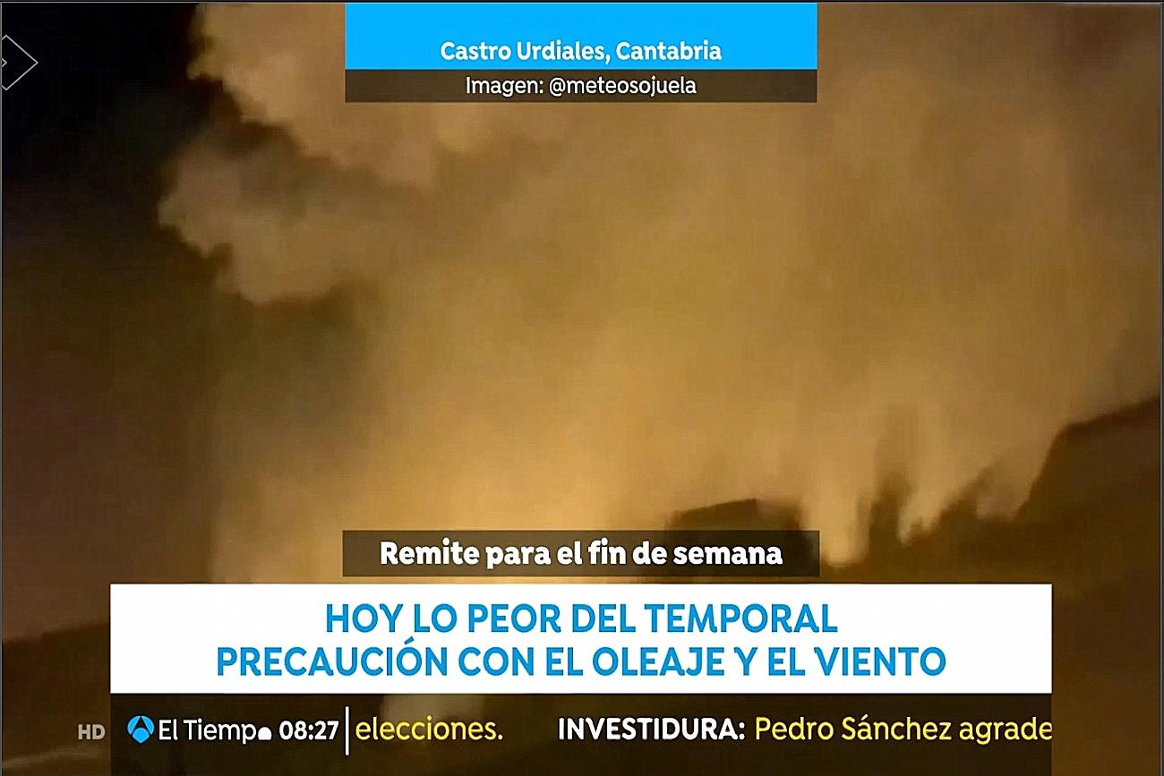 Temporal. Las noticias de la mañana. Antena 3. 1312 Meteosojuela