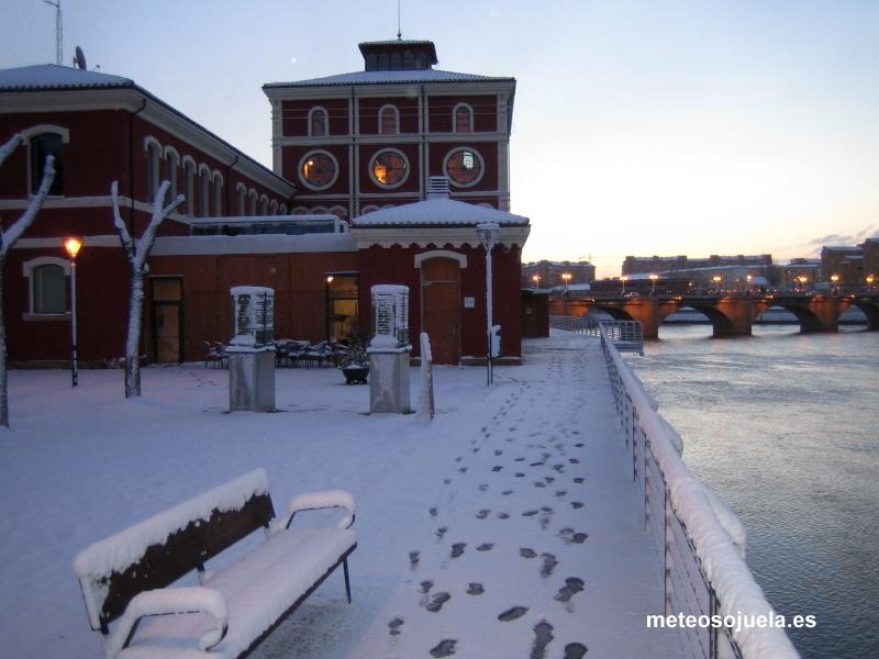 Logroño nevada nieve ebro