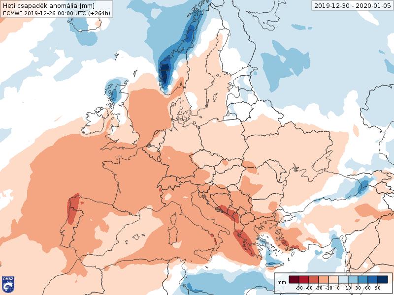 Anomalías Precipitación Enero 1 semana ECMWF