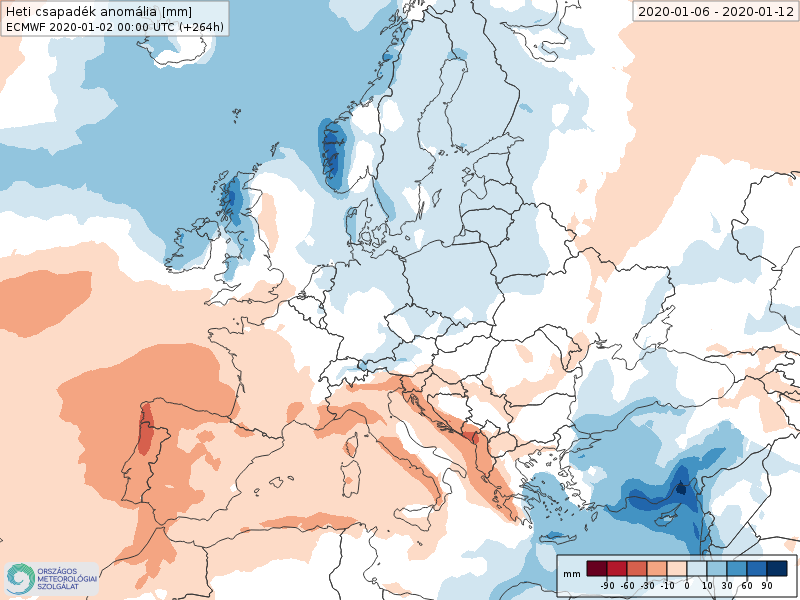 Anomalías Precipitación Enero 2 semana ECMWF