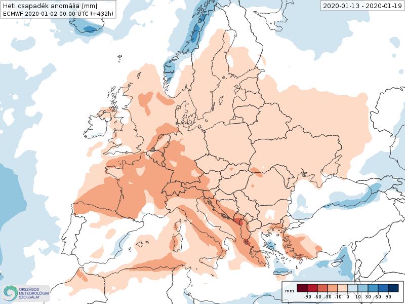 Anomalías Precipitación Enero 3 semana ECMWF