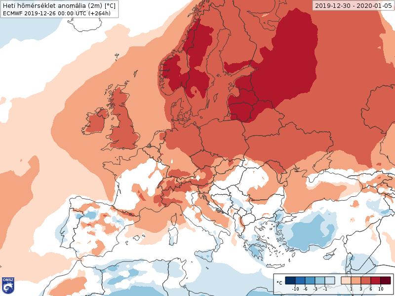 Anomalías Temperaturas Enero 1 semana ECMWF