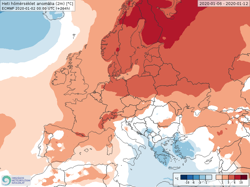 Anomalías Temperaturas Enero 2 semana ECMWF