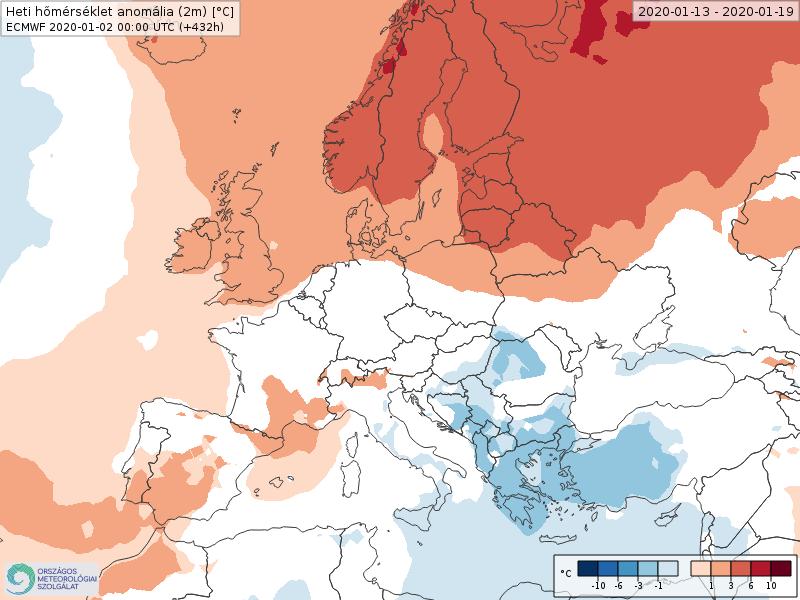 Anomalías Temperaturas Enero 3 semana ECMWF
