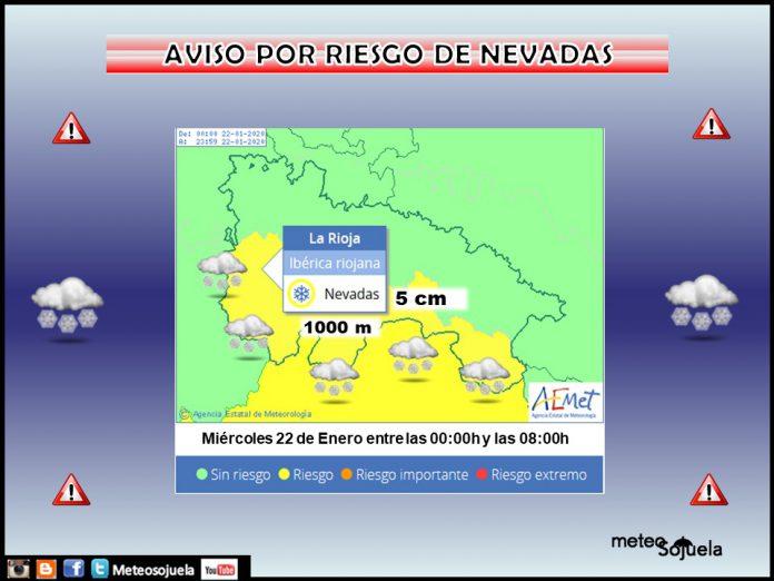 Aviso Amarillo por NIEVE en la Ibérica. 22 Meteosojuela