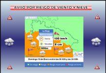 Aviso Amarillo por NIEVE y Naranja por VIENTO en la Ibérica. Meteosojuela