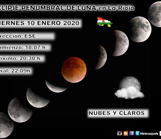 Eclipse Penumbral del luna en La Rioja. Metosojuela.es