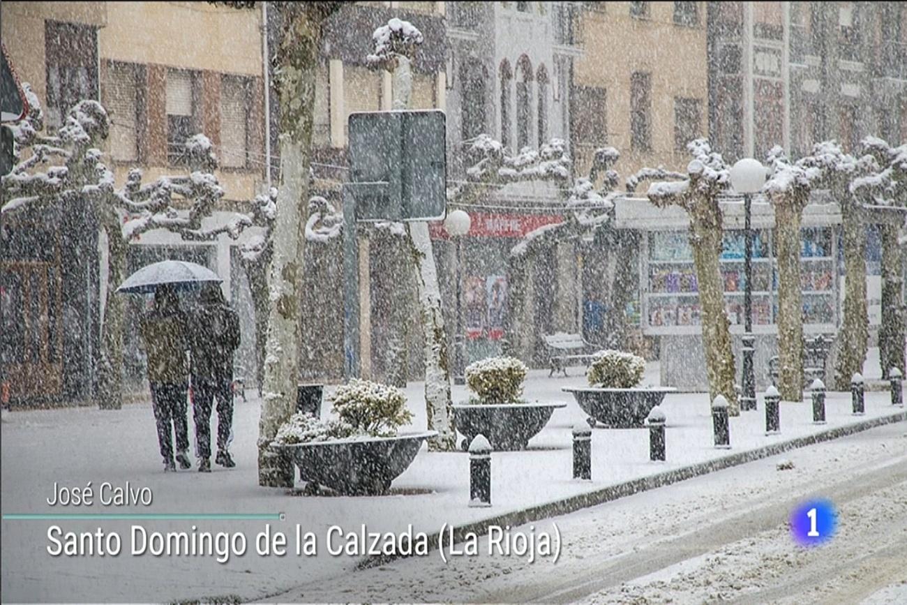 Nieve en Santo domingo. El tiempo de TVE1. 2101. Meteosojuela