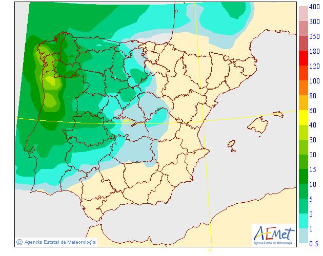 Precipitación Media según AEMET. 30 Meteosojuela La Rioja