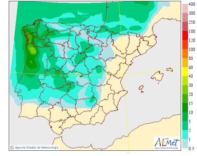 Precipitación Media según AEMET. 31 Meteosojuela La Rioja
