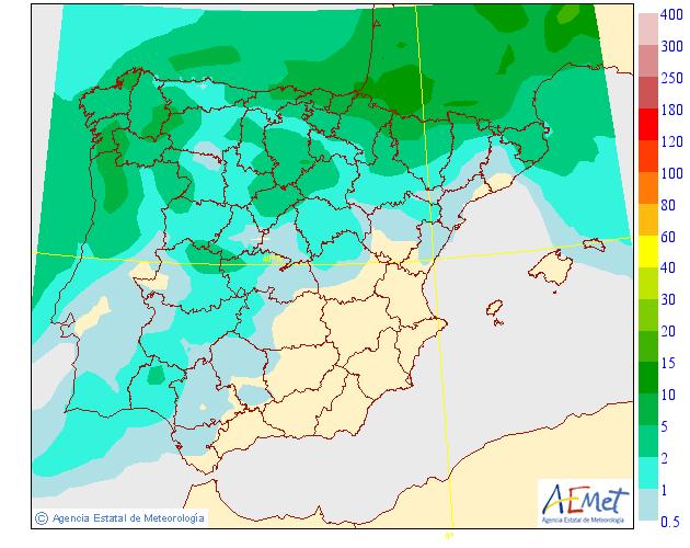 Precipitación Media según AEMET. Meteosojuela 17 La Rioja