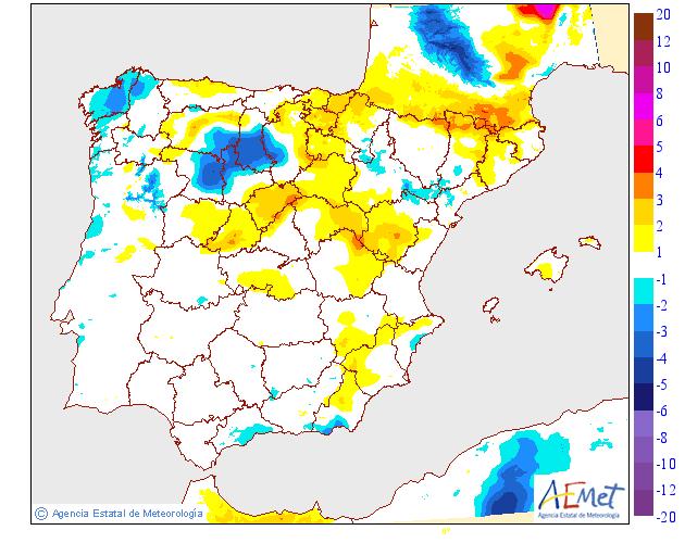 Variación de temperaturas máximas AEMET.12 Meteosojuela