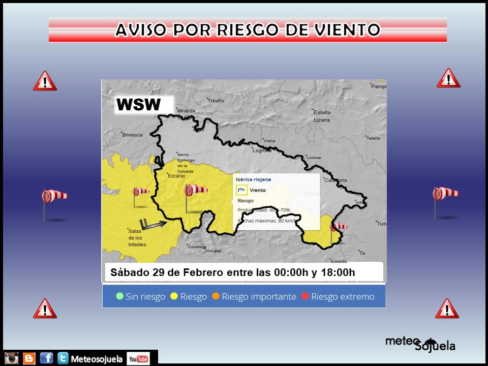 Aviso Amarillo por Viento en la Ibérica. Meteosojuela