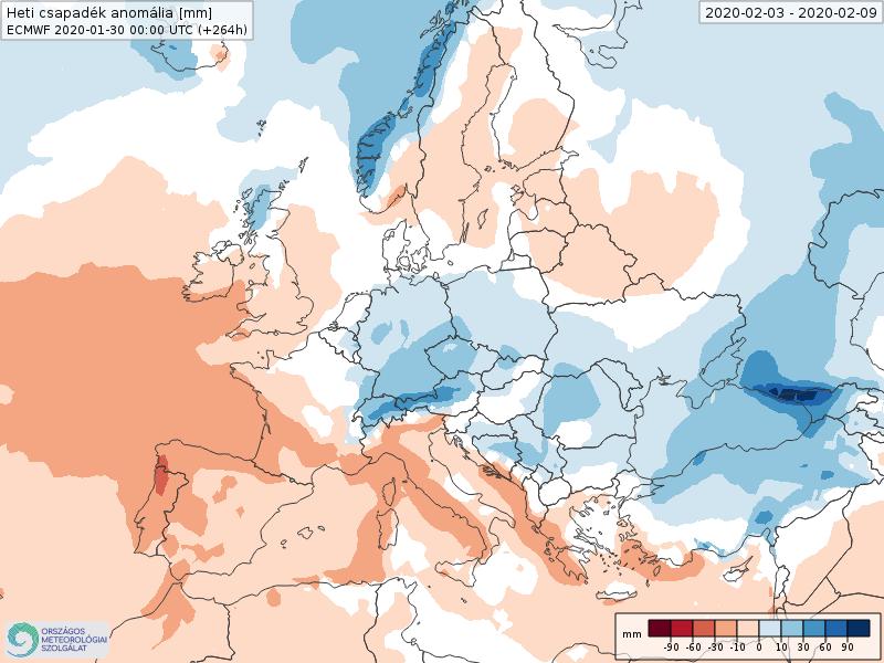 Modelos de Precipitación semanal Febrero ECMWF 1ª Semana . Meteosojuela La Rioja.