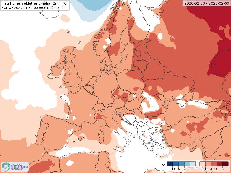 Modelos de Temperatura semanal Febrero ECMWF 1ª Semana . Meteosojuela La Rioja.