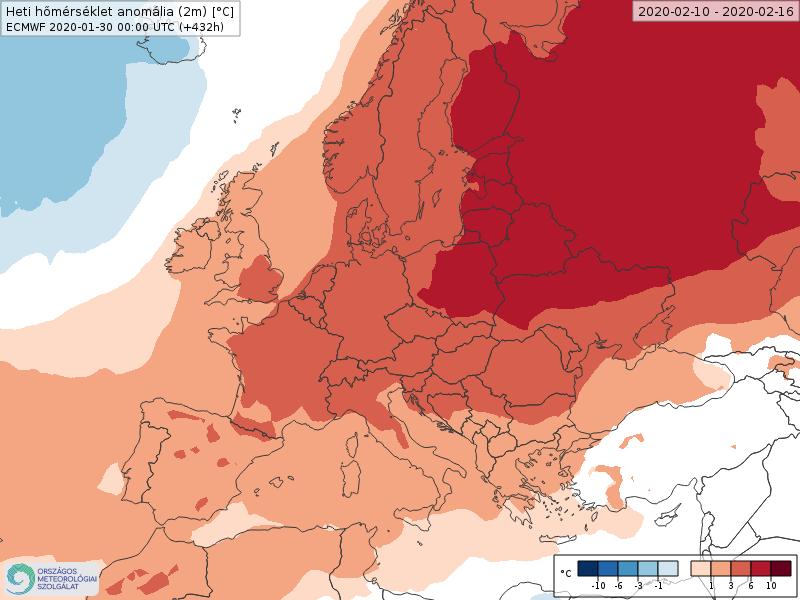 Modelos de Temperatura semanal Febrero ECMWF 2ª Semana . Meteosojuela La Rioja.