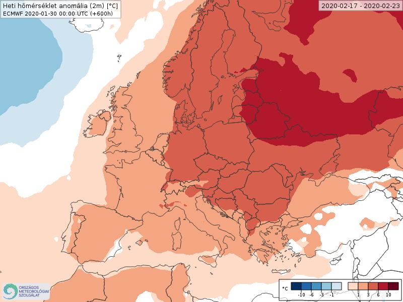 Modelos de Temperatura semanal Febrero ECMWF 3ª Semana . Meteosojuela La Rioja.