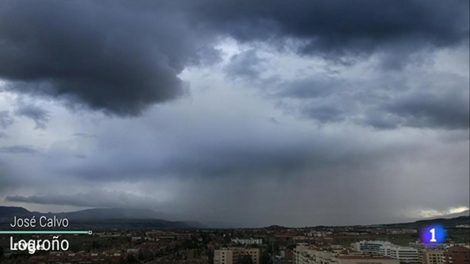 Chubasco en Logroño. El Tiempo de TVE1 0503 Meteosojuela