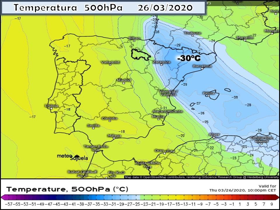 Modelos Temperatura 500hPa ECMWF. Meteosojuela