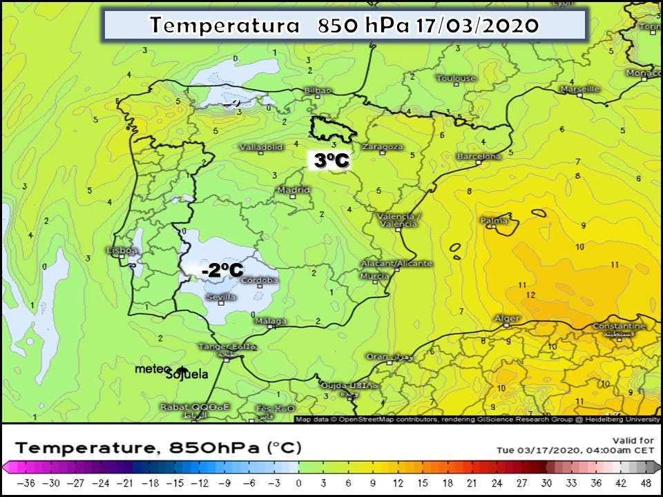 Modelos de Altura de Geopotencial a 850hPa GFS Europa. Meteosojuela La Rioja