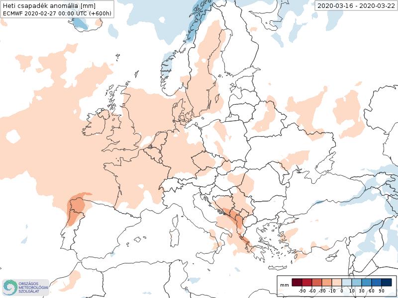 Modelos de Precipitación semanal Marzo ECMWF 3ª Semana . Meteosojuela La Rioja.