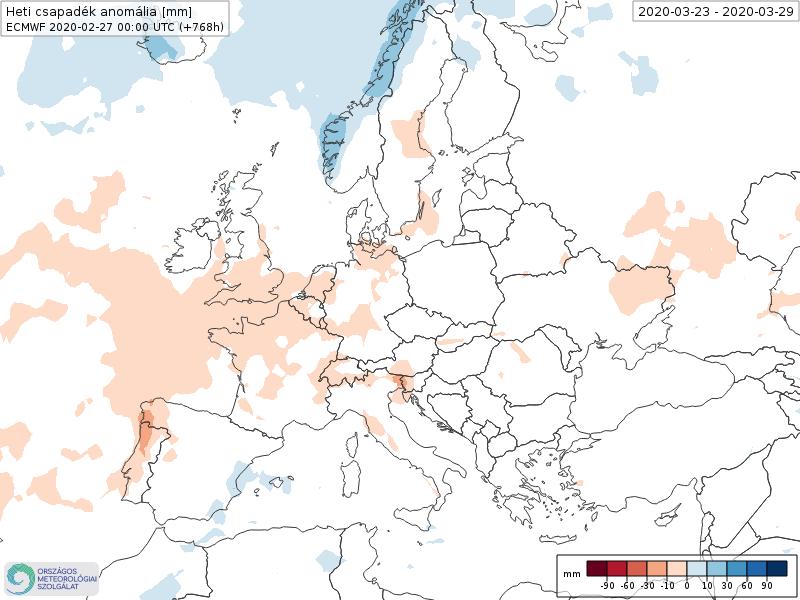 Modelos de Precipitación semanal Marzo ECMWF 4ª Semana . Meteosojuela La Rioja.