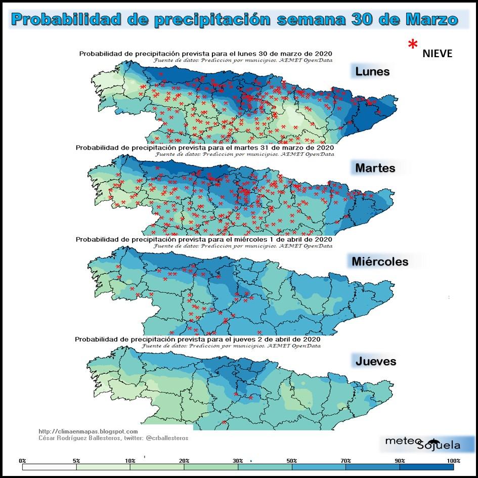 Probabilidad de Precipitación. Meteosojuela
