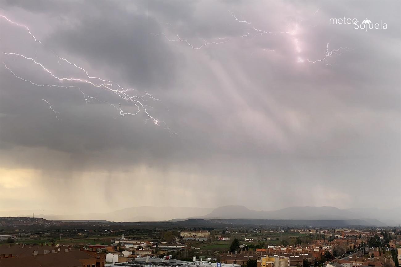 Rayo y Tormentas en Logroño