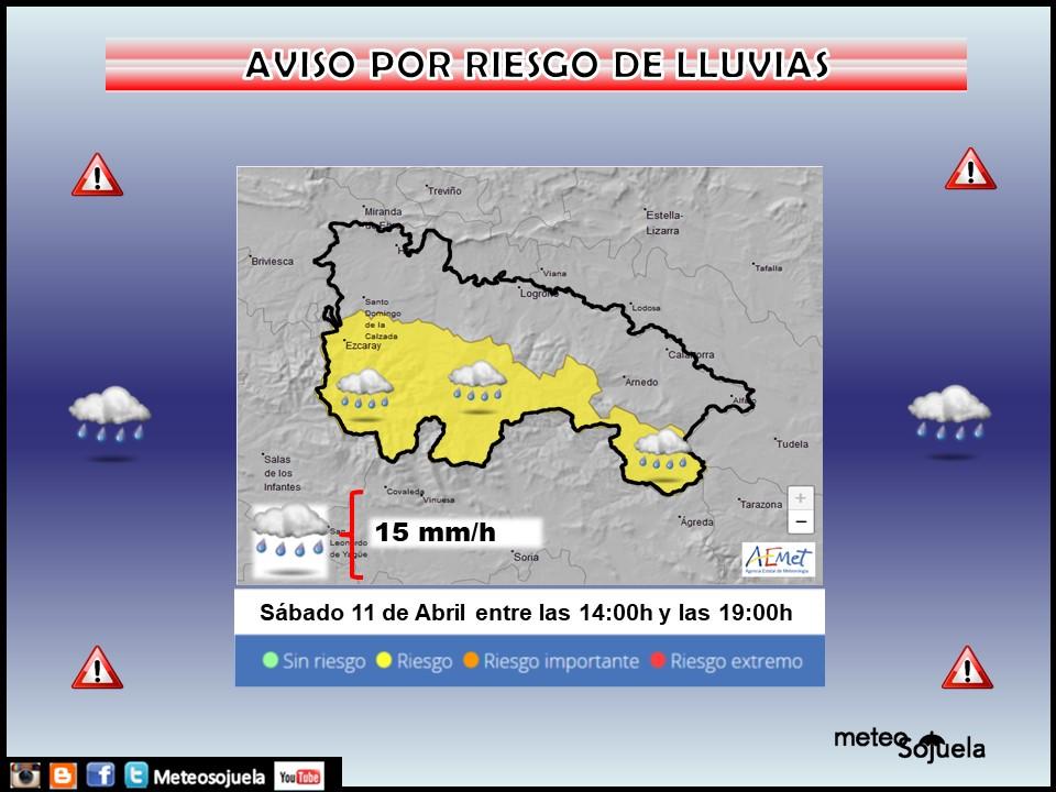 Aviso Amarillo por LLuvia en la Ibérica. Meteosojuela